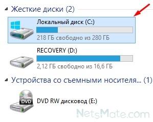 """Зайдите в """"Мой компьютер"""" и выберите """"Локальный диск С"""""""
