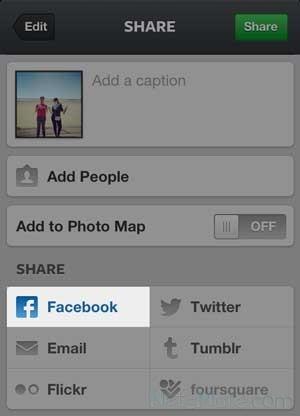 Возможность разместить запись в Facebook
