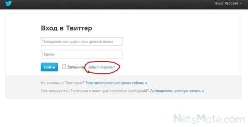 Переходим по ссылке «Забыли пароль?»