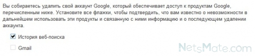 """Отмечаем галочкой """"История веб-поиска"""""""
