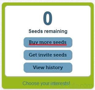 """Нажимаем """"Buy more seeds"""""""