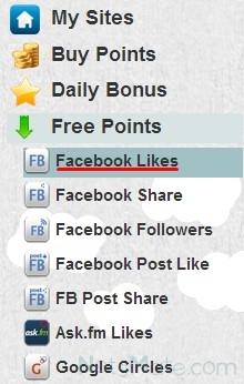 "Выбираем ""Facebook Likes"""