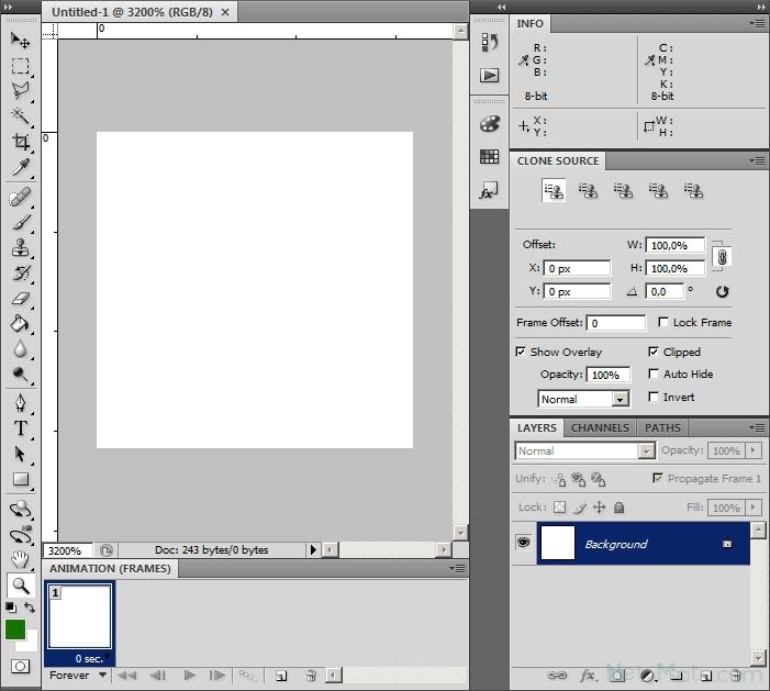 Гиф анимация как сделать в фотошопе