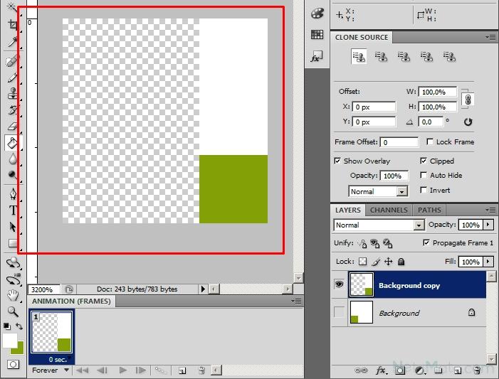 Как сделать в фотошопе gif анимацию