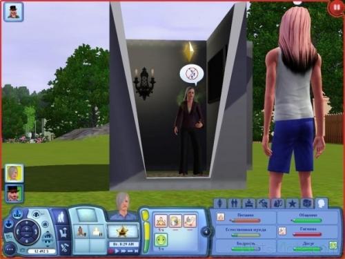 Интерфейс игры Sims 3