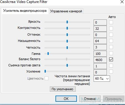 Свойства видеопроцессора